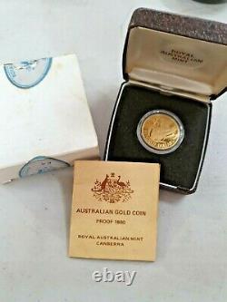1980 $200 KOALA PROOF Gold Coin Royal Australian Mint