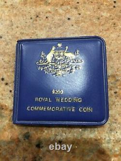 1981 Australian $200 UNC Gold Coin Commemorating Charles & Di Royal Wedding