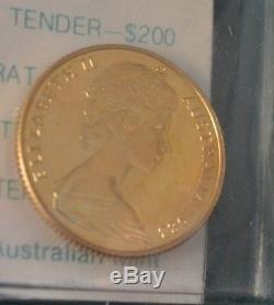 1982 Australian 200 dollar Gold Coin KM#76 XII Commonwealth Games