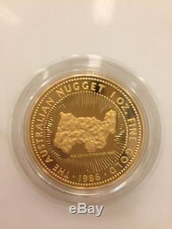 1986 1 oz Gold Australian Kangaroo/Nugget Coin BU
