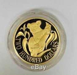 1986 Australia Koala $200 Gold Proof Royal Australian Mint 22 Carat Gold (. 916)