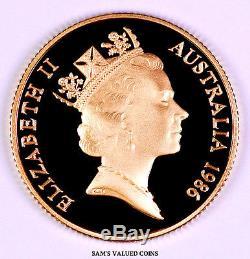 1986 Australian $200 Koala Gold Proof Coin in mint Box & COA 0.3 OZ Gold