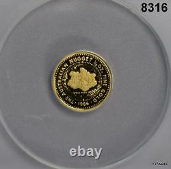 1986 P Gold Australia Nugget $15 1/10th Oz Anacs Certified Pf66 Dcam #8316