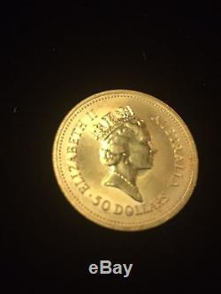 1987 $50 dollar Australian nugget 1/2 ounce gold coin