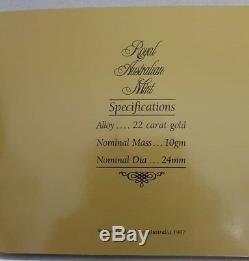 1987 AUSTRALIAN $200 GOLD COIN ARTHUR PHILIP 22 CARAT 10 gr. ORIGINAL FOLDER UNC