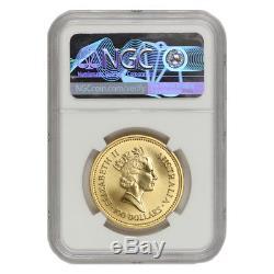 1987 Australia $100 Gold Nugget NGC MS70 Welcome Stranger 1oz bullion coin