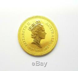 1987 Australian Nugget Coin 9999 Fine Gold 100 Dollar, 1 Ounce Coin Preloved