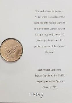 1988 AUSTRALIAN $200 GOLD COIN BICENTENNIAL 22 CARAT 10 gr ORIGINAL FOLDER UNC
