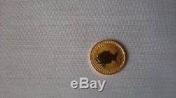 1988 Australian $15 Lunar Year Of The Rabbit Gold Coin 1/10 Oz. 9999 Gold