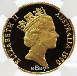 1990 Gold $200 Dollar Pride Of Australia Platypus Coin Ngc Proof 69 Ultra Cameo