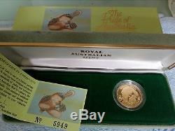 1990 Two Hundred Dollar Gold Proof Coin No 5949 Royal Australian Mint -cheap