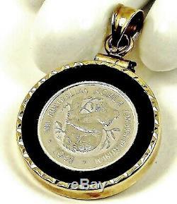 1991 Australian KOALA 1/20 Ounce. 9995 Platinum Coin 14K GOLD Bezel Pendant