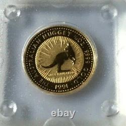 1991 Australian Nugget $5 Gold Coin 1/20 Ounce. 999 Pure Gold