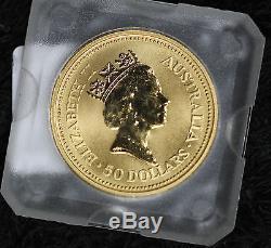 1991 Australian nugget $50 Grey Kangaroo 1/2 oz gold coin