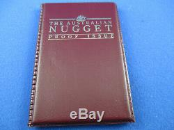 1992 $25 AUSTRALIAN NUGGET 1/4oz GOLD PROOF ISSUE COIN. A BEAUTY