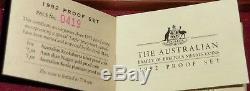 1992 AUSTRALIA EAGLE PRIVY 1/4 Oz. PLATINUM KOALA, ORIGINAL BOX & CERTIFICATE