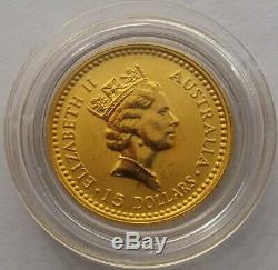 1992 Australian 1/10oz Gold Nugget Coin