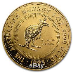 1993 1 oz Australian Gold Nugget Coin