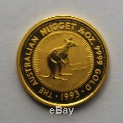 1993 Australian 1/10oz Gold Nugget Coin