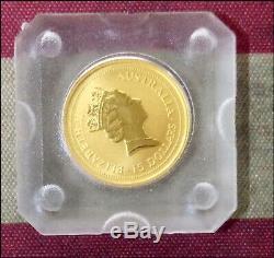 1995 Australia 1/10 ounce GOLD Kangaroo Original Cap CHOICE UNC Beauty! BINo