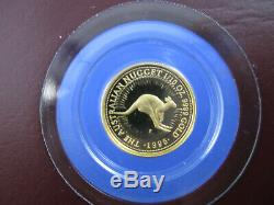 1996 $15 AUSTRALIAN NUGGET 1/10oz GOLD PROOF ISSUE COIN. A BEAUTY