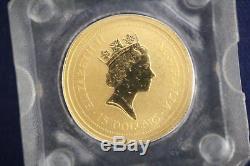 1996 1/10 oz. 9999 Gold Australian Nugget Kangaroo $15 Coin
