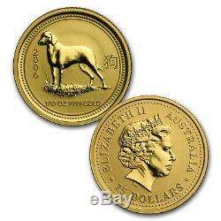 1996-2007 12-Coin 1/10 oz Gold Lunar Mint Set BU (Series I) SKU#56722