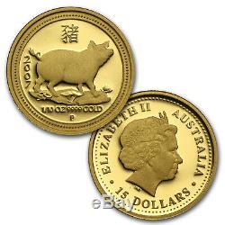 1996-2007 12-Coin 1/10 oz Gold Lunar Proof Set (Series I) SKU #58646