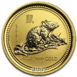 1996-2007 12-Coin 1/4 oz Gold Lunar Mint Set BU (Series I) SKU#62512