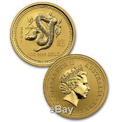 1996-2007 Australia 12-Coin 1 oz Gold Lunar Set BU (Series I) SKU #33436