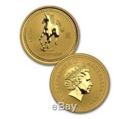 1996-2007 Australian Lunar 1/10 oz. 99.99 Gold Proof Set of 12 Coins