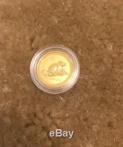 1996 Australia 1/20 oz Gold Lunar Mouse Rat BU In Capsule (Series 1) Very Rare