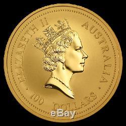 1996 Australia 1 oz Gold Lunar Rat (Series I) SKU #9007
