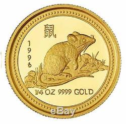 1996 Australia 25 Dollars Lunar Series Year of the Rat GOLD Proof