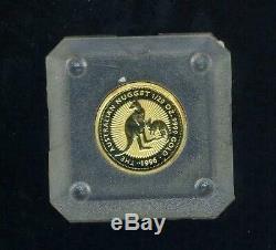 1996 Australian 1/20 Gold Kangaroo Coin in Capsule