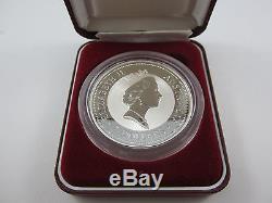 1996 Australian Kookaburra specimen 2 oz SILVER Coin. DUCAT GOLD PRIVY Scarce