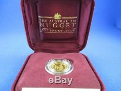 1997 $15 AUSTRALIAN NUGGET 1/10oz GOLD PROOF ISSUE COIN. A BEAUTY