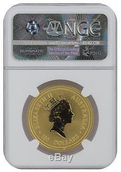 1997 1oz Gold Australian Lunar Ox Series 1 MS70 NGC (#020)