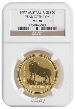 1997 1oz Gold OX MS70 NGC (#013)
