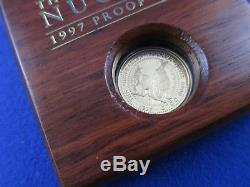 1997 $25 AUSTRALIAN NUGGET 1/4oz GOLD PROOF ISSUE COIN. A BEAUTY