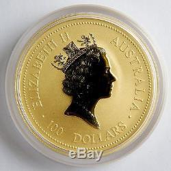 1997 Australia $100 Lunar Year of the Ox 1 Oz Gold. 9999 UNC Details Coin #A0107