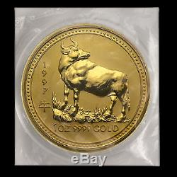 1997 Australia 1 oz Gold Lunar Ox BU (Series I) SKU #9003