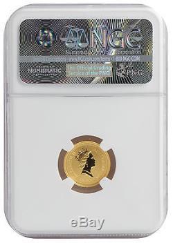 1998 1/10oz Gold Australian Lunar Tiger Series 1 MS70 NGC (#003)