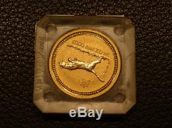 1998 1/4 oz. 9999 Gold Year of the Tiger Lunar Coin (Series I)