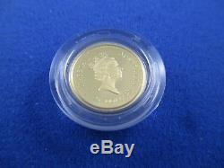 1998 $25 AUSTRALIAN NUGGET 1/4oz GOLD PROOF ISSUE COIN. A BEAUTY