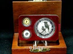 1999 Australian Family of Precious Metals (3 Coin) Gold-Platinum-Silver ECC&C