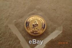1999 Australian Gold Nugget/Kangaroo 1/20 Ounce Coin