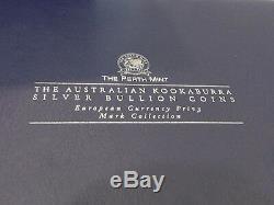 1999 Australian Kookaburra Silver Bullion Coins Set