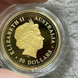 1999 Australian Proof Nugget 2-1/2 Oz Gold Coin Twin Set Series Kangaroo Set#202
