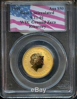 1999 PCGS WTC $50 Gold Australian Nugget 1/2oz. 9999 Pure Coin AN8312 J